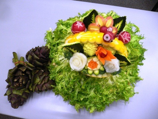 fruit carving Cestino3