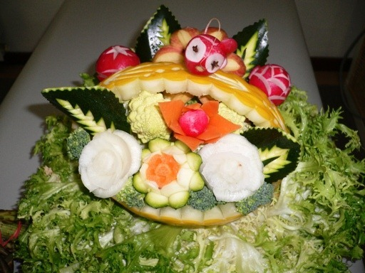 fruit carving Cestino4
