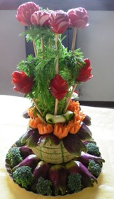 fruit carving vasetto fiori5