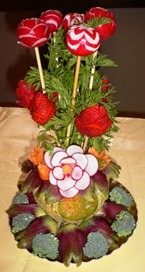 fruit carving vasetto fiori