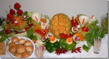 Fruit Carving Centro tavola 10.2009