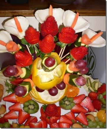 Fruit carving Particolare di Centro Stuzzica Frutta