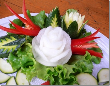 Fruit Carving Rosa Bianca r