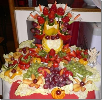 Fruit Carving Tavolino Stuzzica Frutta