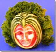 Fruit Carving Viso Capelli ricci2