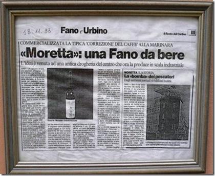 La Moretta Articolo giornale