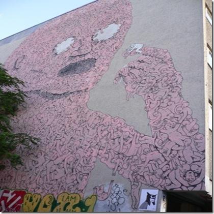 Muro di palazzo Berlino