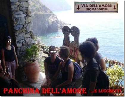 Panchina dell'Amore in via dell'amore 5 terre