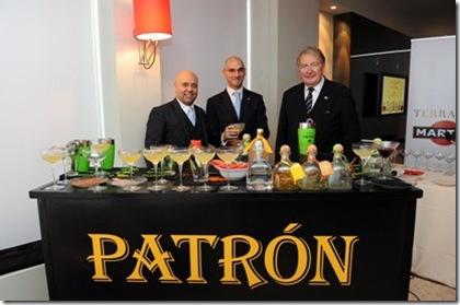 Tequila Patròn Massimo D'Addezio, Gabriele Pizzuto marketing manager Gruppo Bacardi, Mauro Lotti r
