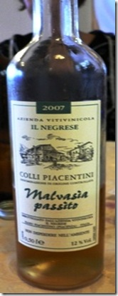 Vino Malvasia Passito Colli Piacentini