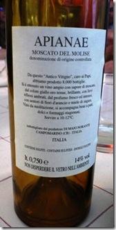 Vino Moscato passito Molise 1